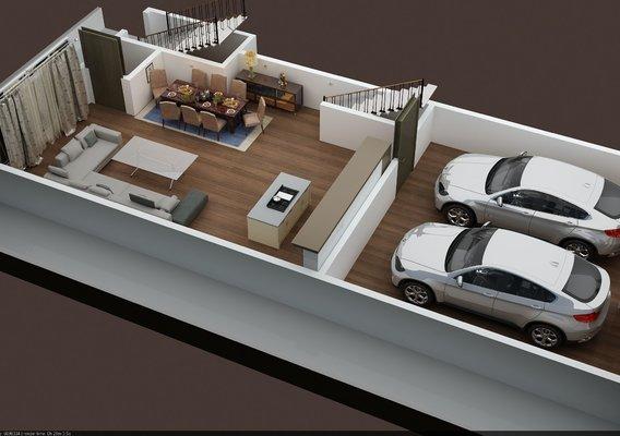 3D FLOOR PLAN PROJECTS OF APPARTMETN BUILDING