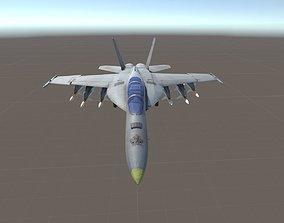 3D asset Rusty F-18 Super hornet