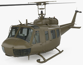 Bell UH-1 Iroquois with HQ interior 3D