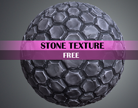 3D asset game-ready Stylized Stone Tile Texture free