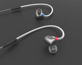 3D model RHA T10 Earphones