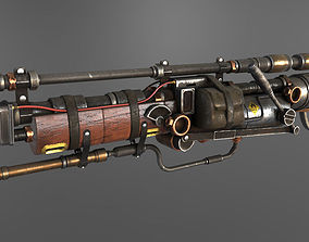 Steampunk Gun 3D model VR / AR ready