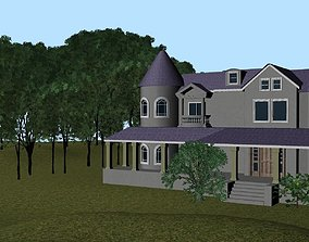 3D asset Realistic Mansion Environment Exterior