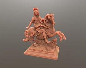 3D print model Louis King Statue on horse