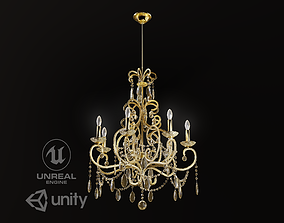 Classic Chandelier Game Model VR / AR ready