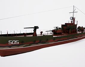 3D model realtime Ship Support Designa MBK 161