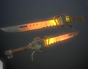 3D asset Heater sword