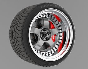 work meister s1 3piece wheel 3D