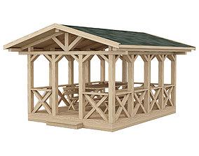 3D model Garden Gazebo made of wood