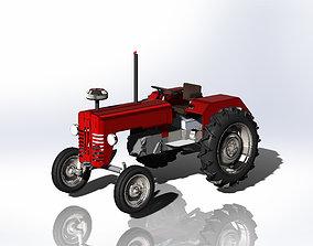 Rural Shiny Metal Tractor 3D Project