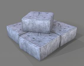 3D model realtime Concrete Block