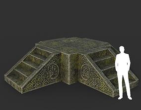 Low poly Ancient Dragon Temple Element 11 190909 3D model