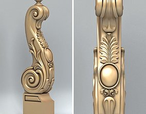 3D staircase Newel post 007