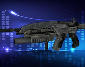 3D asset Modern Assault Rifle Accesories