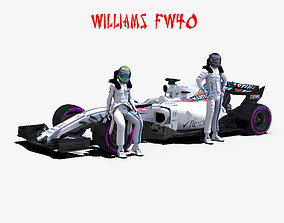 3D asset Williams FW40