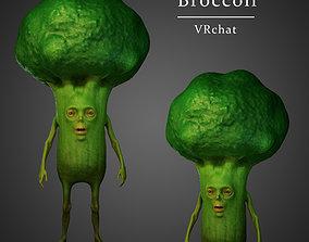 3D model rigged Broccoli