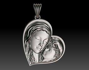 ornament 3D print model virgin Mary