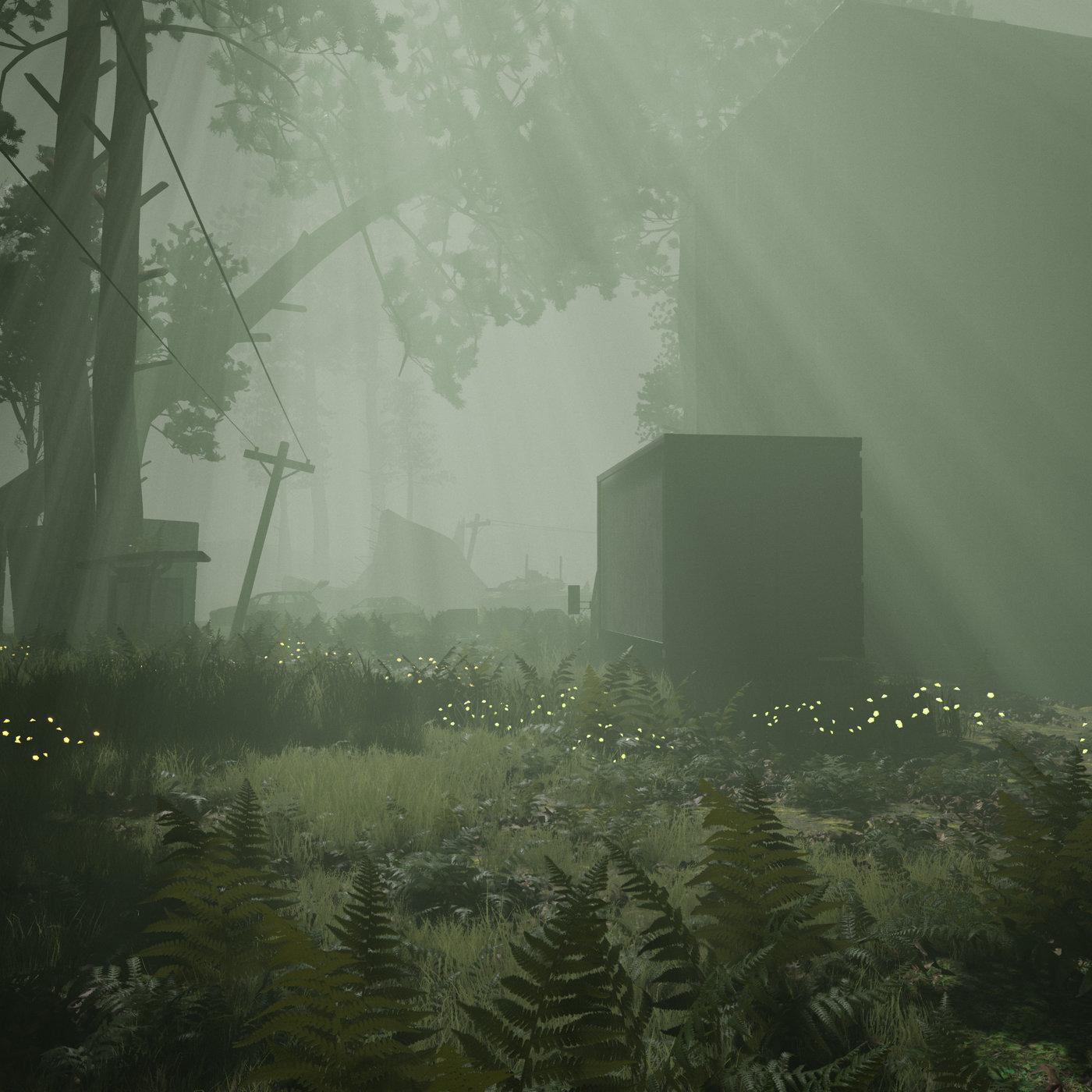 Abandoned City - Lighting in Fog