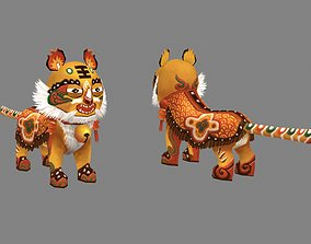 Cartoon fabric tiger - Chinese Spring Festival 3D asset
