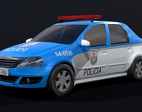 Police Car - Rio de Janeiro 3D model realtime