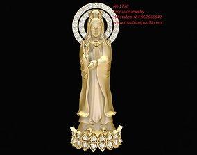 3D printable model 1778 bodhisattva pendant
