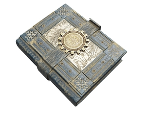 3D model realtime Steampunk Book