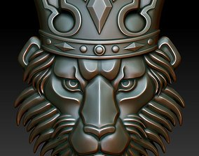 Lion in the crown 3D printable model