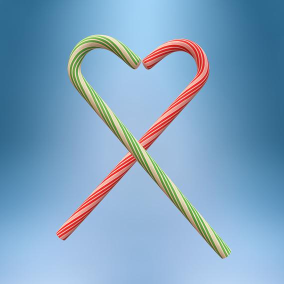 Xmas Candy Cane Heart