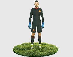 De Gea goalkeeper football player 3D asset
