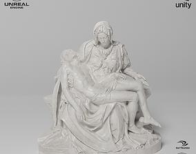 La Pieta Sculpture VR AR Mobile-ready Game-ready 3D model