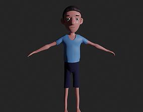 3D model game-ready Free Man