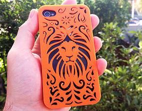 3D printable model Tribal Lion Floral Iphone Case 4 4s
