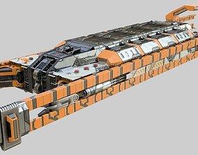 Sci-Fi Cargo Train 3D