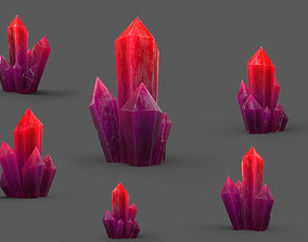 Crystal Low-poly 3D asset