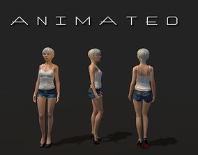 Low-poly Girl 3D model