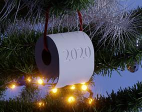 toilet paper christmas ornament 3D printable model