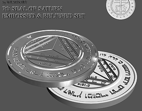 3D print model kabalah 7th Seal of Saturn