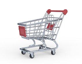 Shopping Cart 3D asset low-poly