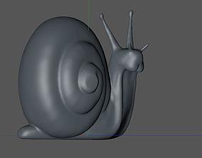 3D print model snail