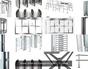 3D model door Access control and management system