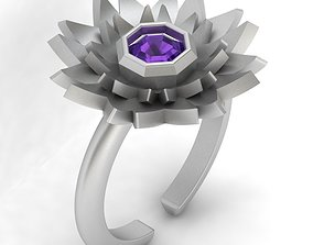 engagement 3d-model flower ring