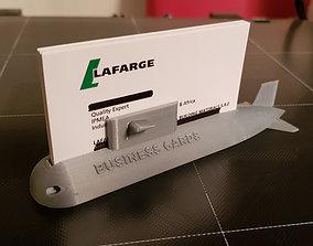 3D printable model SUBMARINE BUSINESS CARD HOLDER