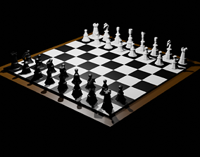 Chess Board 3D model realtime