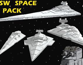 3D model STAR WARS - ALL STARSHIPS PACK