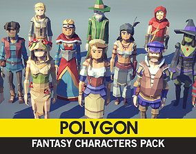 3D asset POLYGON - Fantasy Characters Pack