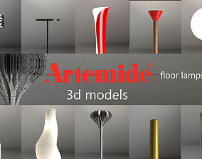 3D model Artemide floor lamps set 1