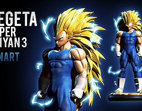 Vegeta super saiyan 3 FANART vegeta 3D printable model