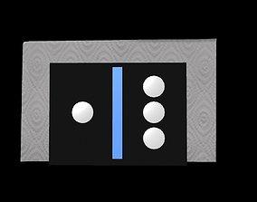 domino napkin holder 3D model