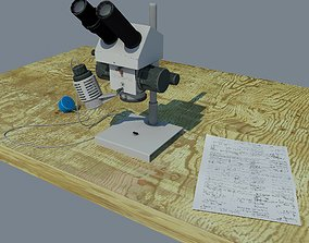 3D model Old microscope