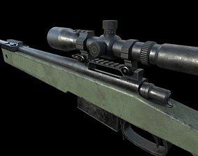 M40A5 Sniper Rifle 3D asset VR / AR ready